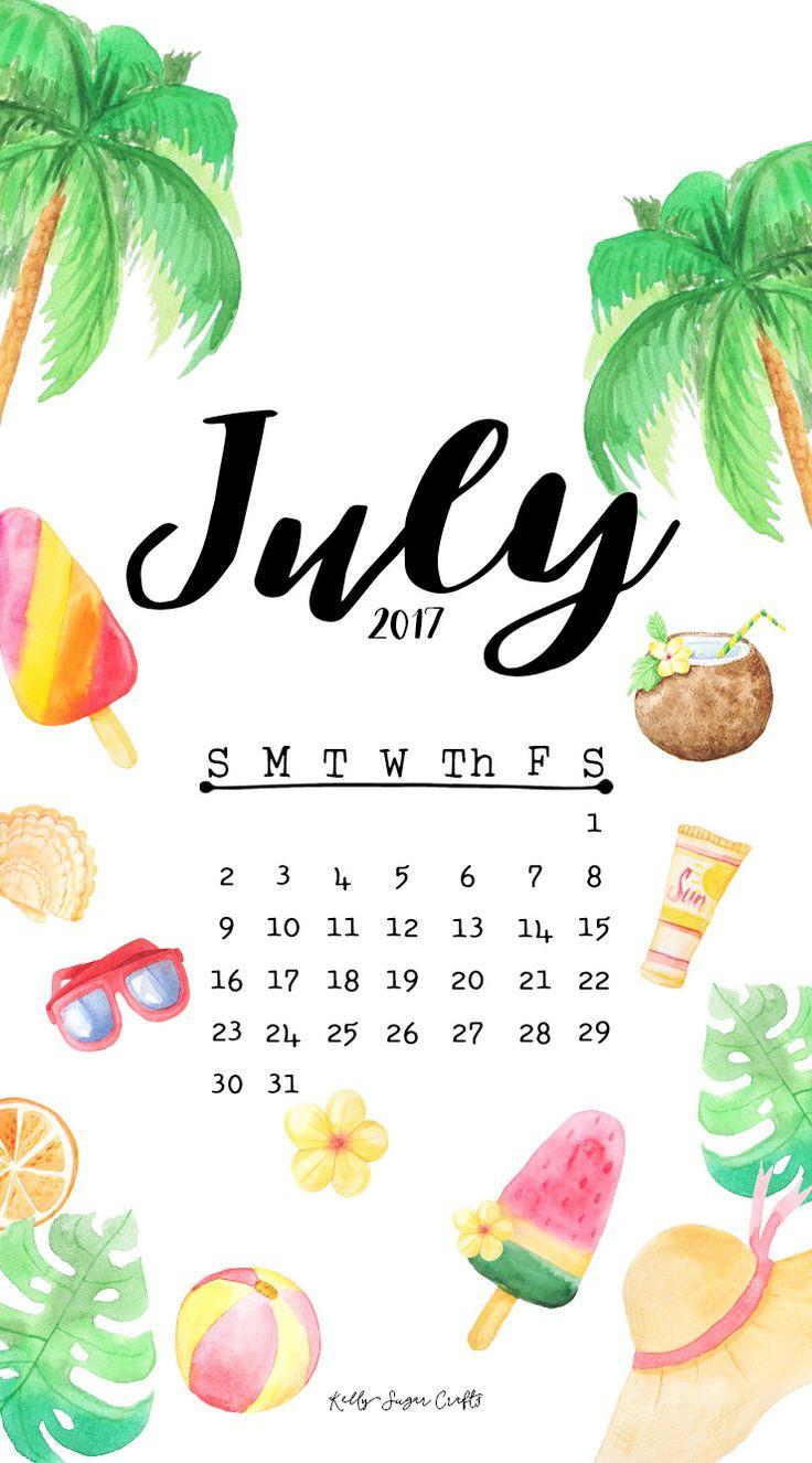 July-2017-Calendar-Phone-by-KellySugarCrafts.jpg (740×1334)
