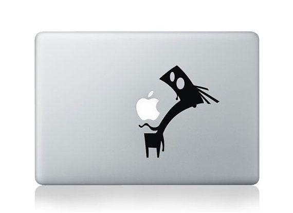 Etiqueta negra Mac para macbook pro mac aire macbook retina calcomanía portátil macbook etiqueta etiqueta mac Calcomanía Calcomanía de Apple...