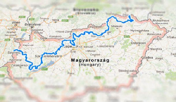 Országos Kéktúra útvonala