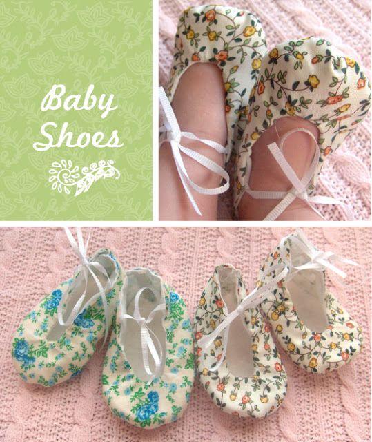 DIY Baby Shoe Tutorial look like something E would love