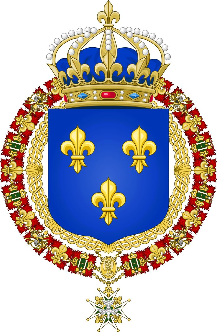 grand royal coat of arms of the kingdom of france coats. Black Bedroom Furniture Sets. Home Design Ideas