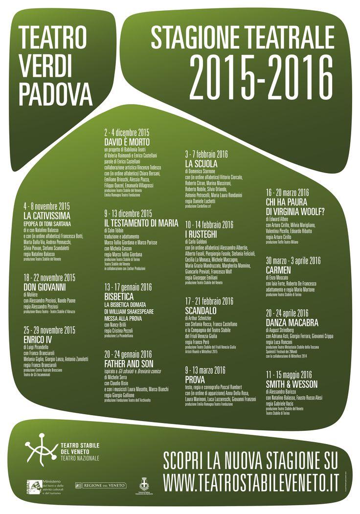 La nuova Stagione 2015/16 al Teatro Verdi di Padova. #TSVeneto #TSV_verdi #ispirazioneclassica #parolecontemporanee http://www.teatrostabileveneto.it/padova/