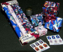 Holiday Angels and Santas Gift Wrap set
