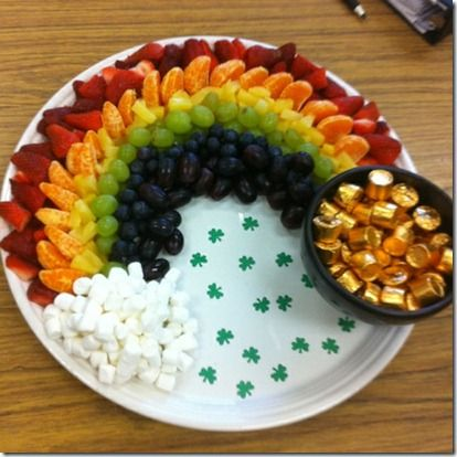 Rainbow Fruit Platter! healthy and cute :)