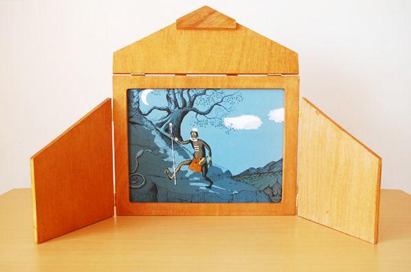 Costruire un Kamishibai. Full instructions at http://www.lejardindekiran.com/fabriquer-un-butai-modele-pour-kamishibai-traditionnel/