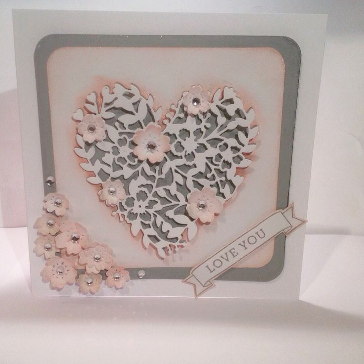 Bloomin heart thinlets by stampin up
