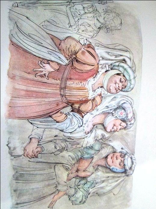Cinderella - Vintage illustration -  Illustration by Marino (Marino Guarguaglini)