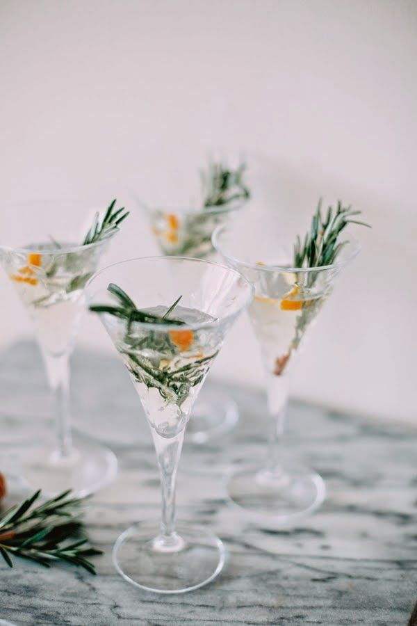 winter champagne cocktail