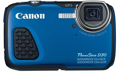 Snap photos in a variety of environmental conditions with this Canon PowerShot D-30 digital camera, which is waterproof up to 82′ and features a shock- and temperature-resistant design, so you can capture images in aquatic settings and harsh climates. #Canon #camera #photography