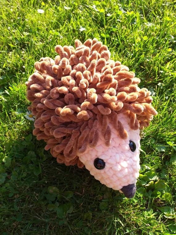Hedgehog Crocheted Amigurumi Plush Hedgehog In 2020 Hedgehog Crochet Amigurumi Plush