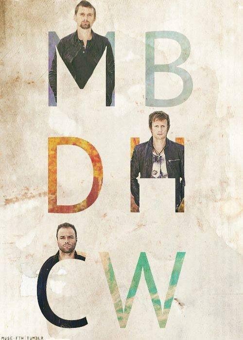 Matt, Dom and Chris. #Muse