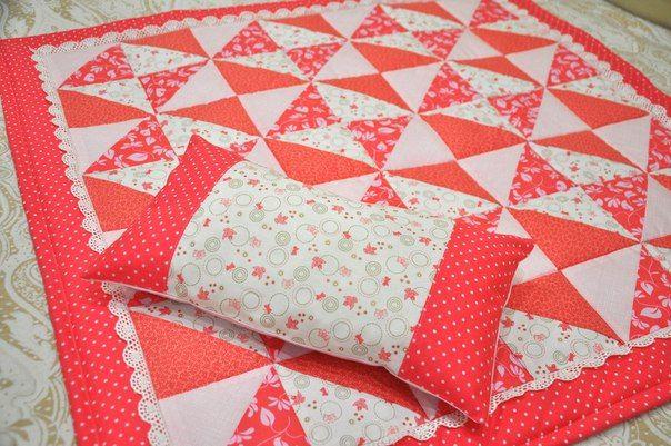 Одеяло-конверт на выписку. Детское лоскутное одеяло