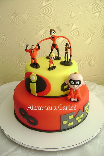 Incredibles Birthday Party Cake Super Hero Cakes