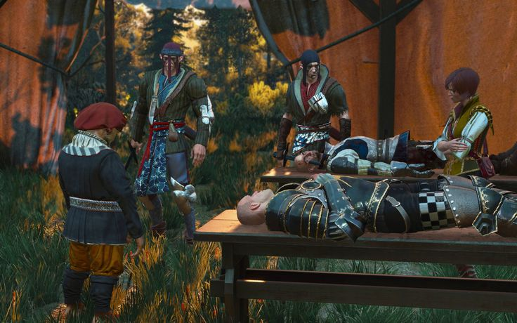 """Future generations of surgeons repeated her famous joke - 'Stitch red to red yellow to yellow white to white and everything will be alright.' Hardly anyone noticed that after delivering it she always wiped away tears. Hardly anyone."" #TheWitcher3 #PS4 #WILDHUNT #PS4share #games #gaming #TheWitcher #TheWitcher3WildHunt"