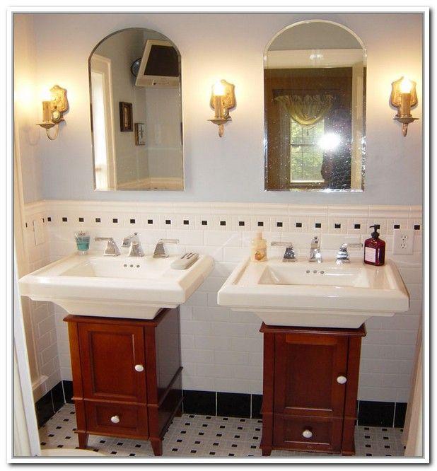 Diy Pedestal Sink Storage