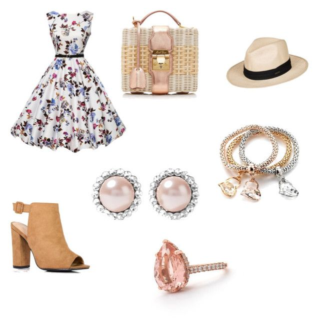 """Sweetheart of cherry blossom parade"" by steelersrgettin on Polyvore featuring Boohoo, Mark Cross, Roxy and Miu Miu"