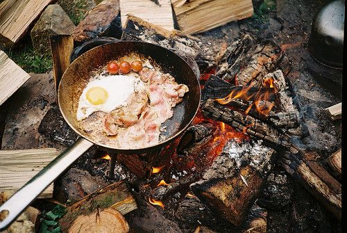 bacon and eggs over an open fire... | For the Adventurous ...
