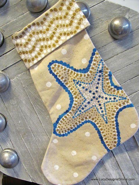 Hand Painted Christmas Stockings