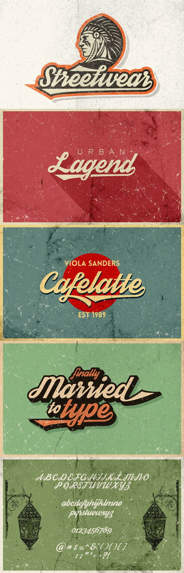 Streetwear is bold and stylish retro inspired script typeface