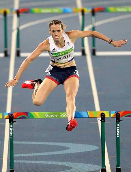 Eilidh Doyle of Great Britain competes during the Women's 400m Hurdles…