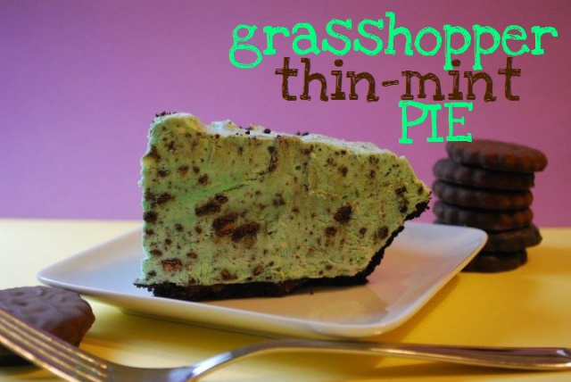 Grasshopper Thin Mint Pie