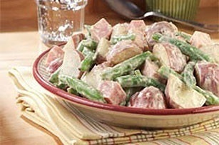 Green Bean, New Potato  Ham Salad recipe salads salads salads