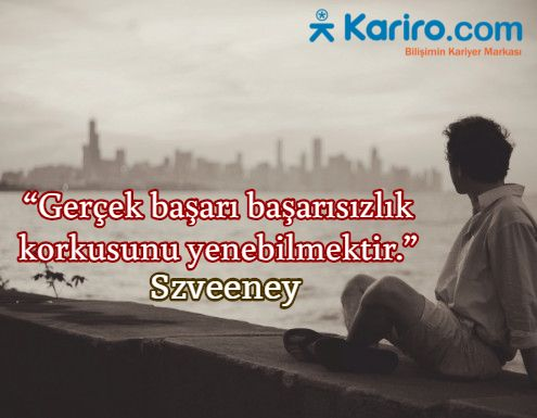 Başarmak için önce korkularınızı yenmelisiniz...www.kariro.com  I #kariyer #iş #staj #stajyer #teknoloji #yazılım