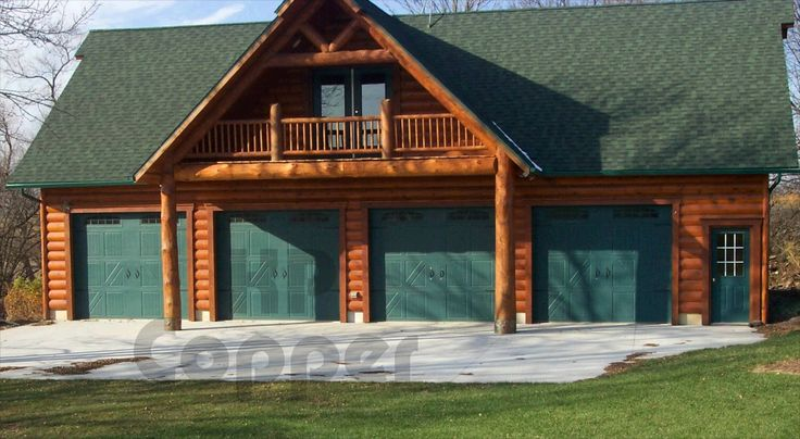 Log cabin garage dream home pinterest log cabins for Log cabin garages for sale