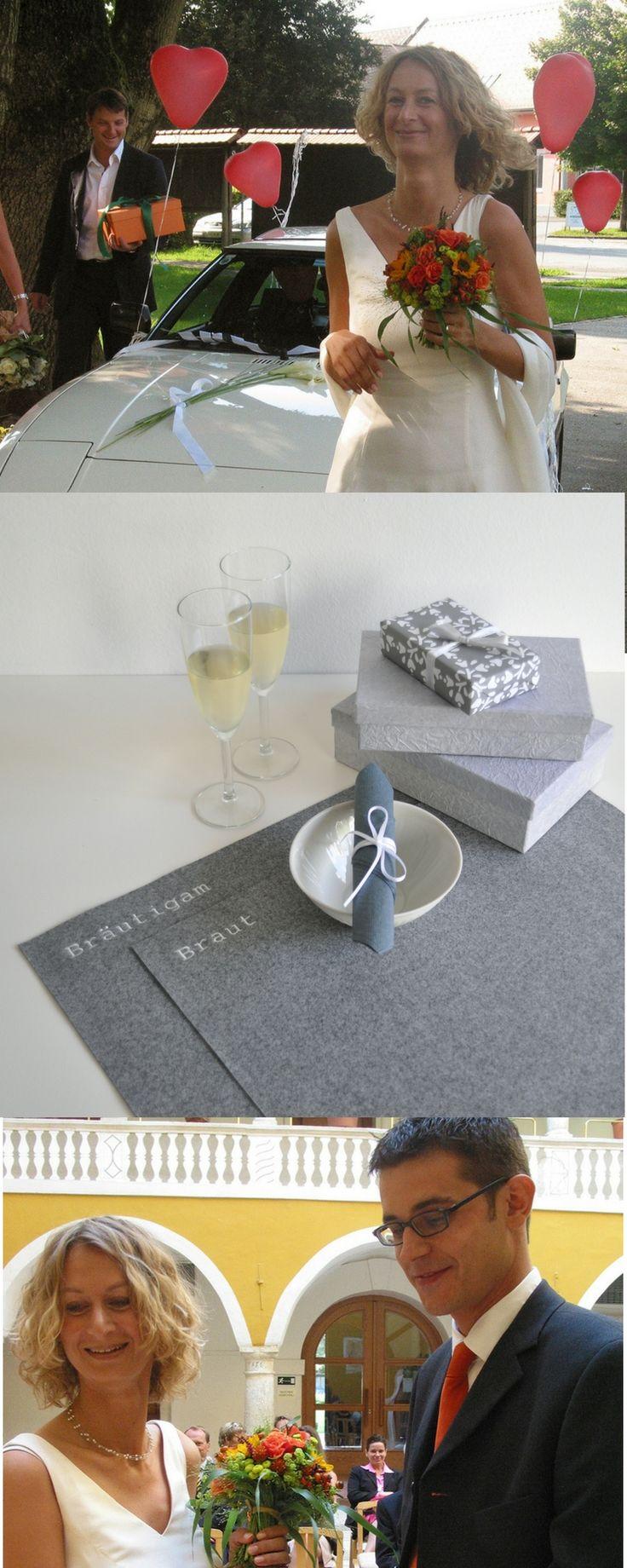 Tischset Braut Bräutigam Hochzeit Wedding Hochzeitsgeschenk Geschenk personalisiert