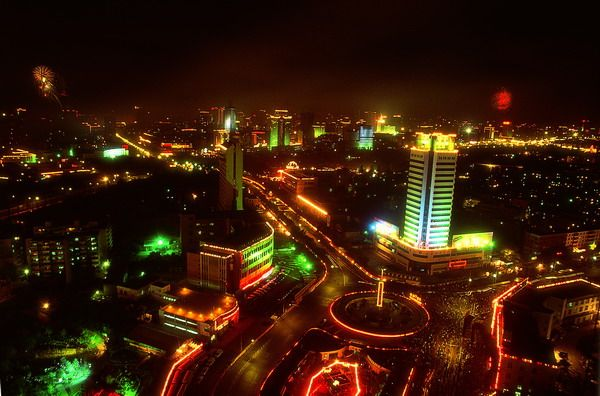 Korla China  city photos : Korla, China at night | The lights at night ... | Pinterest