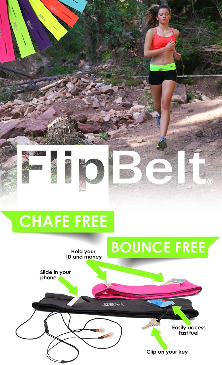 Buy FlipBelt today with free shipping! Best rated running belt ever! Fits Phones, Credit Card, Keys, Gels, Medical, Mace, Lip Balm, Powerbar, iPod, etc... Fits all phones including the iPhone 6 Plus! No Bounce!  Machine wash!  Move your   phone to any location on your waist for different activities and exercises. Use 10% off code: PIN10 until 12/31/2015.  Click the image to shop now.