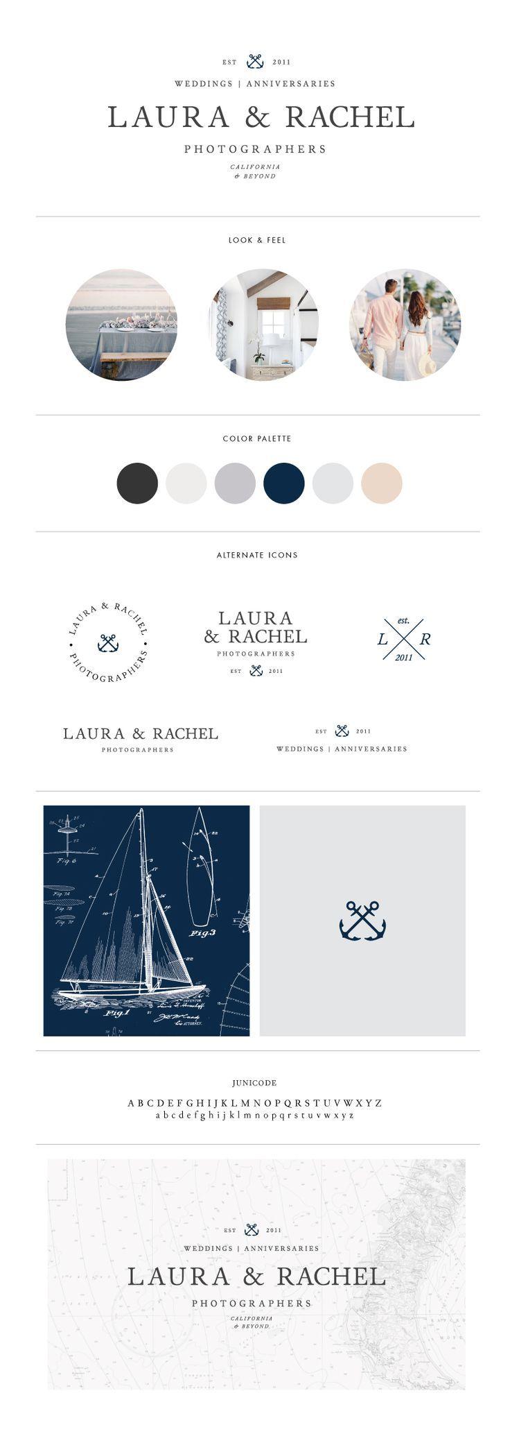 Custom nautical logo design & brand for California Photographers Laura & Rachel | Davey & Krista