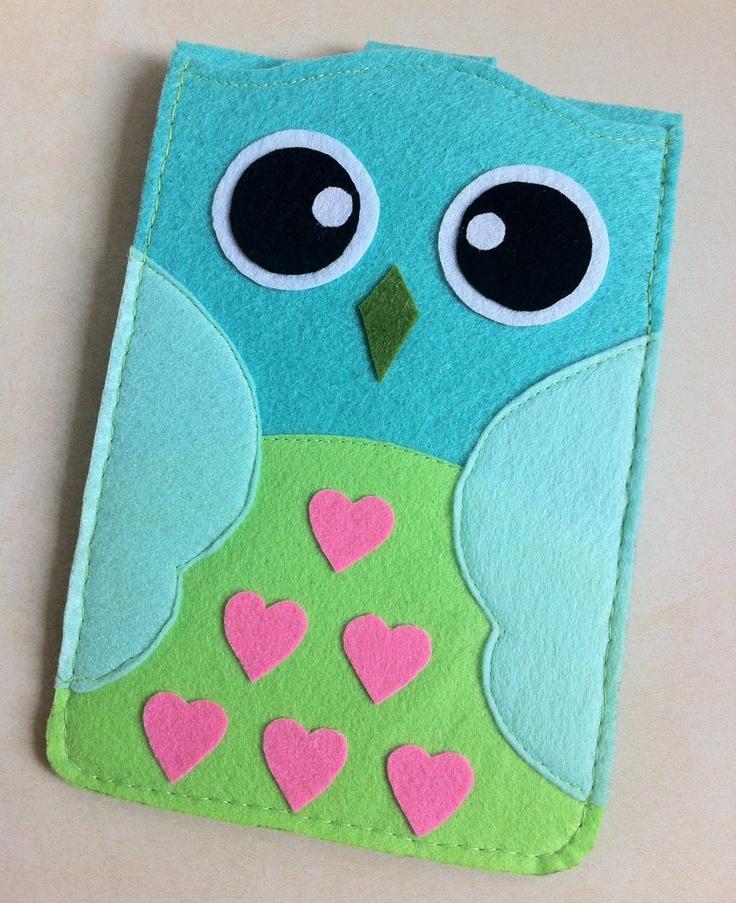 Cute Cute Light Green Owl Mini Ipad Case/Mini iPad by SheetaDesign