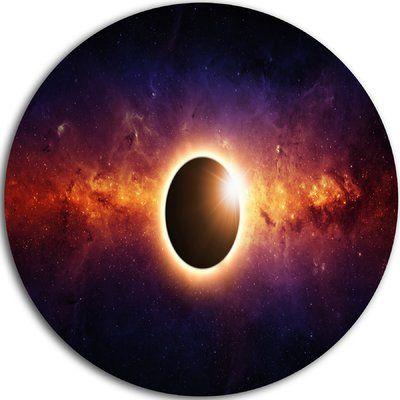 "DesignArt 'Full Eclipse View' Graphic Art Print on Metal Size: 11"" H x 11"" W x 1"" D"