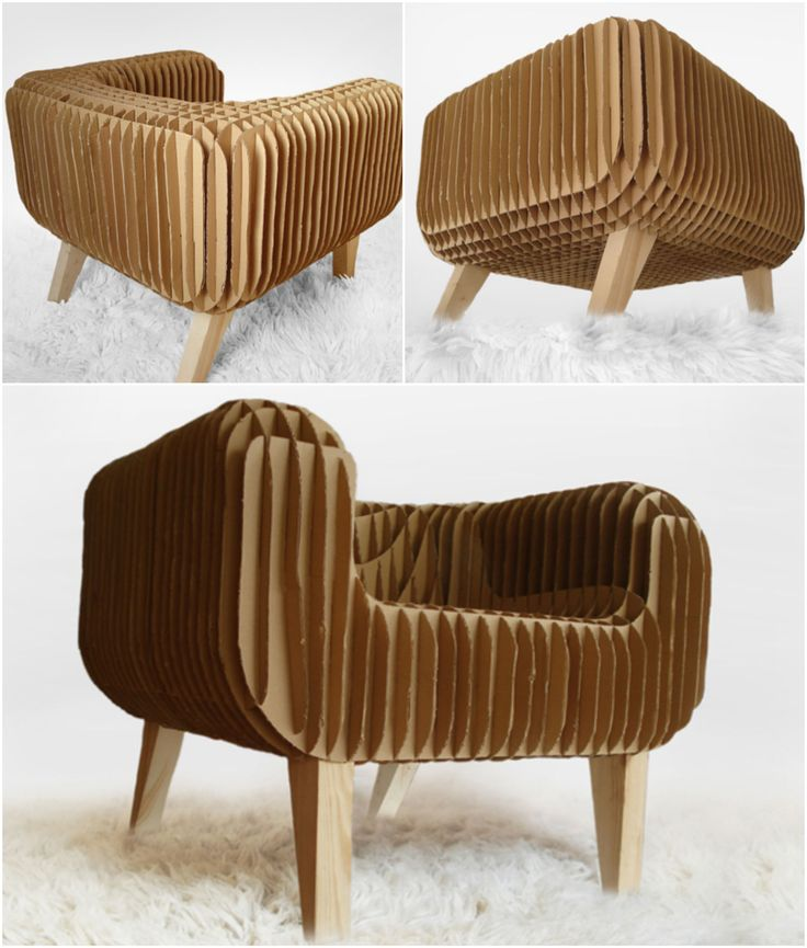 Cardboard Armchair! I like the design but, would prefer it in something plush and velvety.