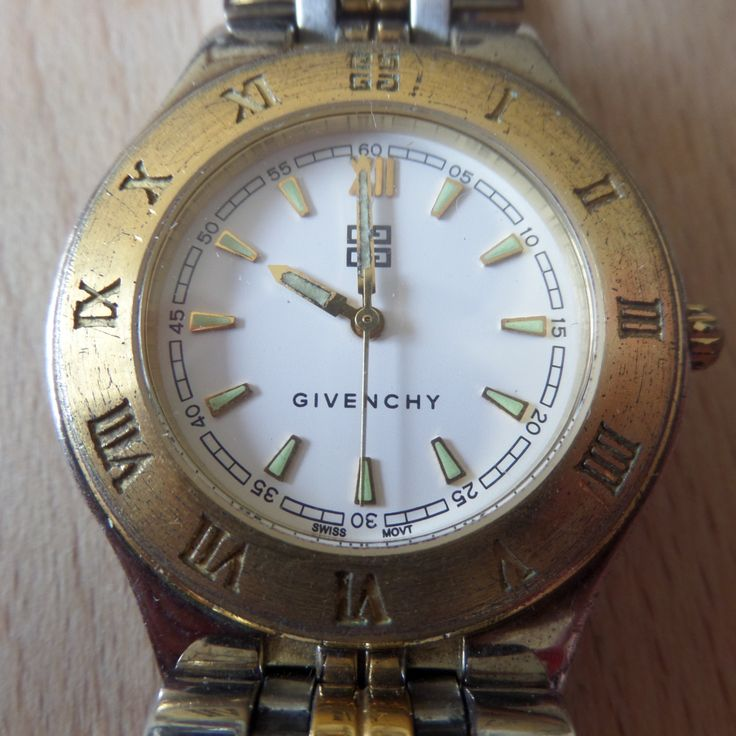 Retro GIVENCHY XVIII (eighteen) Gents Watch - Swiss made, Water resistant, signed case & strap, Guaranteed Genuine, gents quartz wristwatch by EWcoLondon on Etsy
