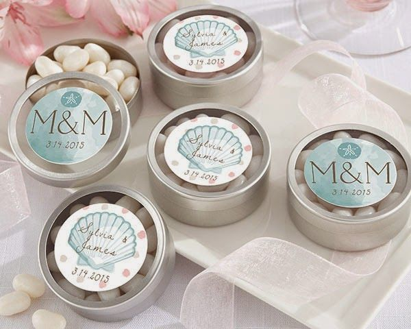 Personalized Silver Round Candy Tin