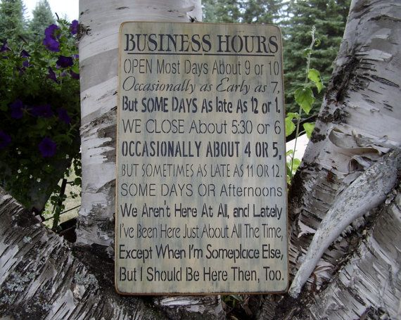 Wood Sign Business Hours Subway Handmade Word by RusticNorthern