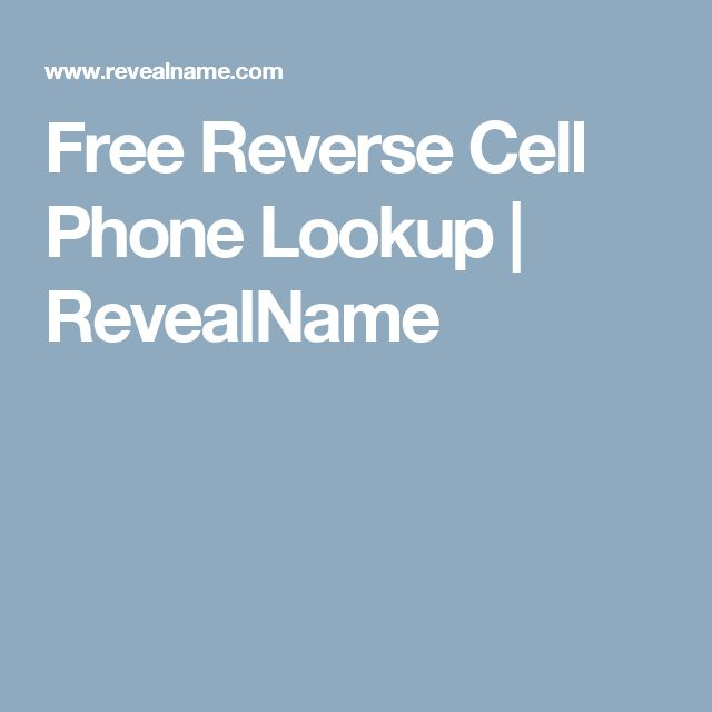 Free reverse cell phone lookup