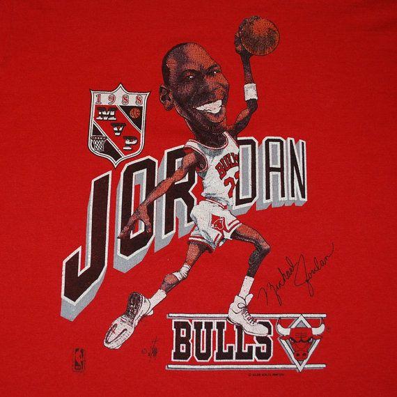 Michael Jordan MVP Chicago Bulls Shirt 1988 vintage by WyCoVintage