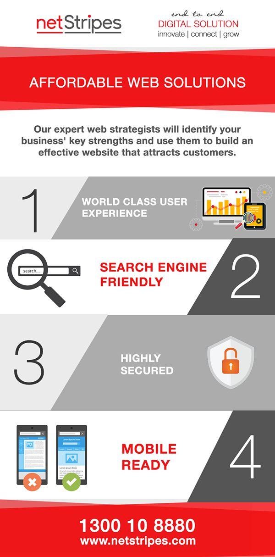 4 Steps towards Affordable Web Solutions #AffordablewebSolutions #searchengineoptimisationsydney #mobilefriendly #highsecurity  https://www.netstripes.com/website-development/