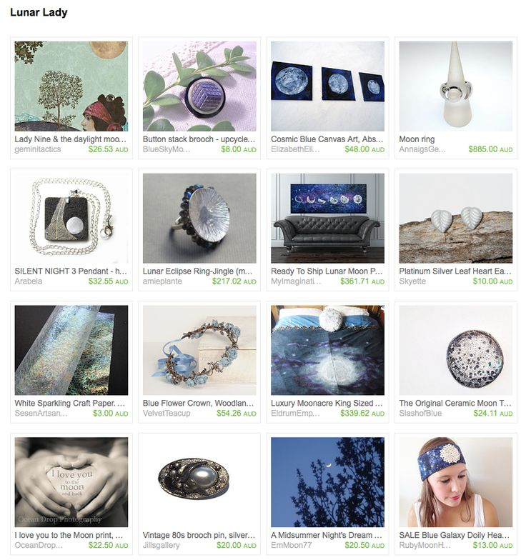 Lunar Lady by BygoneAllure on Etsy