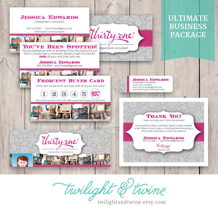 Thirty One Ultimate Business Bundle 31 Card Label Facebook Cover Thank You Tag Vista Print Pdf Printable Template