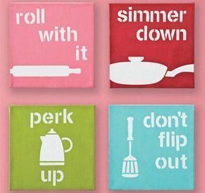 DIY Kitchen Wall Art Project - super cute art for your kitchen! Made with Handmade Charlotte stencils and  - both available  Dussert Sullivan Stores
