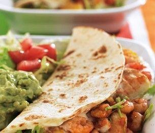 Mexicaanse wraps met kabeljauw en garnalen • Simpele-recepten.nl