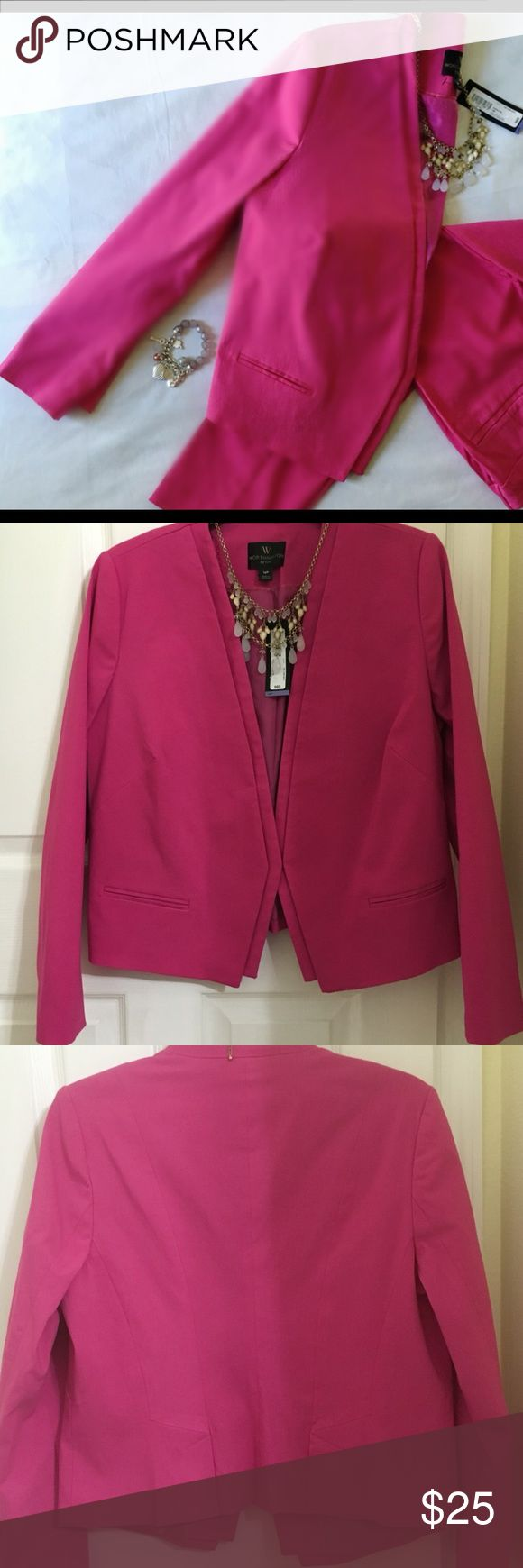Worthington Petite Suit Blazer Add some modern elegance to your. Professional look. Fully lined. Open front jacket.   Worthington Jackets & Coats Blazers