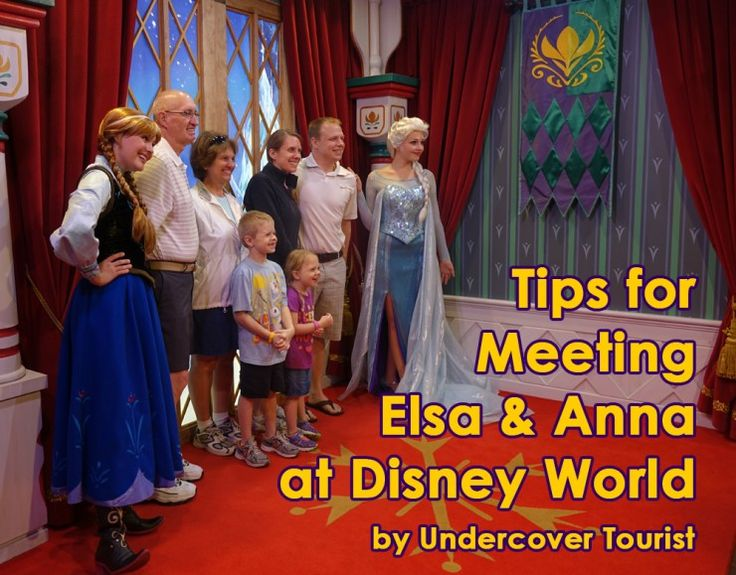 Meeting Elsa and Anna.....ways to make it happen!!!!