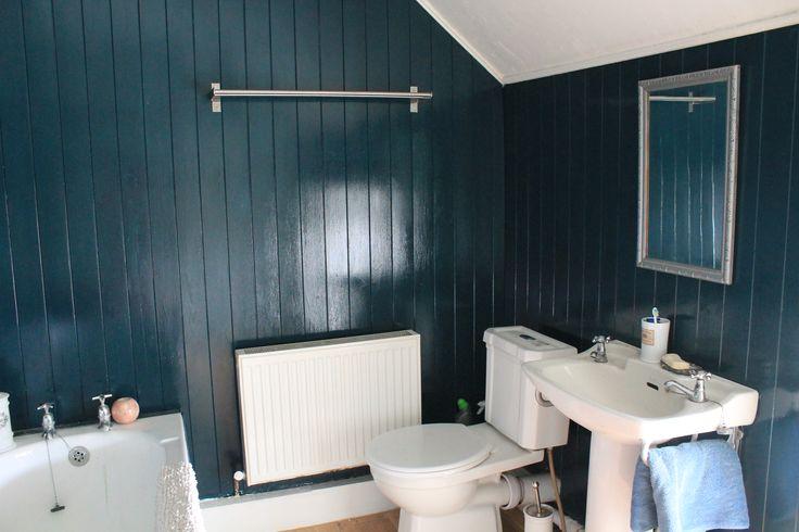 Best Bathroom Wall Panels Painted Using Farrow B*Lls Hague 640 x 480