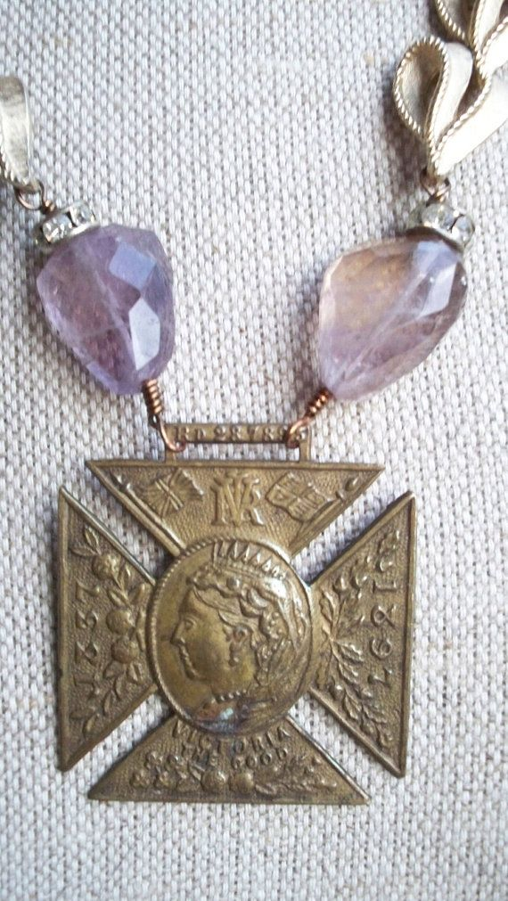 God Save the Queen  Vintage Assemblage Necklace by VintageTraveler, $195.00