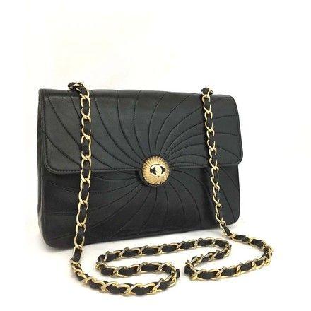 89dad5d590eb Chanel Classic Flap Black Vintage Wave Rare 5676 Lambskin Shoulder Bag -  Tradesy